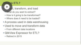 QlikView: Extract, Transform, & Load (ETL)