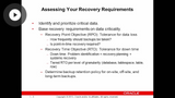 Assessing Recovery Requirements