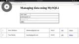 Building Dynamic Web Sites with MySQLi