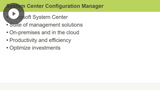 System Center Configuration Manager Introduction & Planning