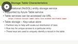 Azure Storage Tables & Queues
