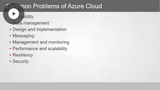 Azure Developer: Common Application Design & Connectivity Patterns