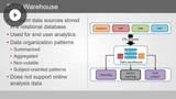 Data Warehouse Essential: Concepts