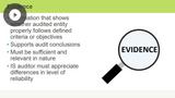Control Self-assessment (CSA) & Finalizing an Audit