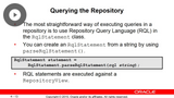 Repository API & Derived Properties