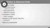 Introduction to Automated Testing with Selenium
