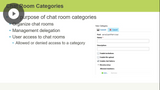 Chat Room Configuration